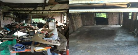Garage Cleaning Befor And After
