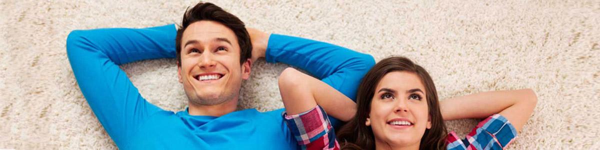 ultra clean carpet happy couple