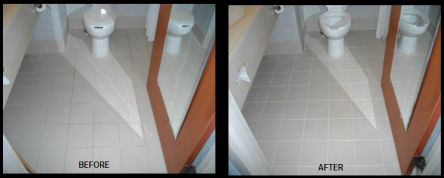 Tiles And Grouts Cleaning Before And After